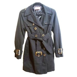 Juicy Couture Black Cotton/Poly Trench...L